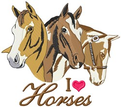 Heart For Horse embroidery design