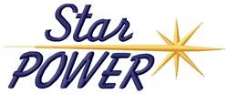 Golden Star Power embroidery design