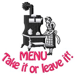 Todays Menu  embroidery design