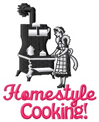 Homestyle Cooking embroidery design