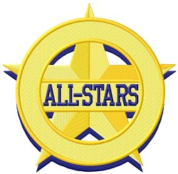 All Stars embroidery design
