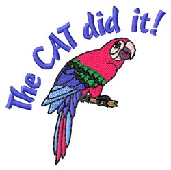 Parrot Cat Story embroidery design
