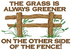 Sides Of Fence embroidery design