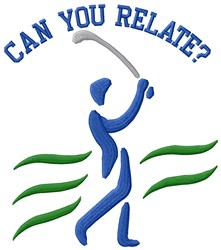 Relationship With Golf embroidery design
