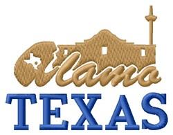 Alamo Texas embroidery design