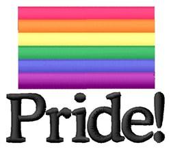 Colorful Pride embroidery design
