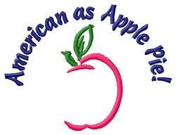 American Apple Pie embroidery design