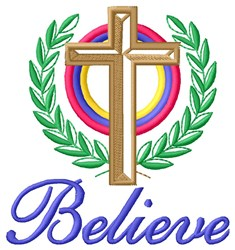 Believe In Almighty embroidery design