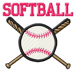 Softball Is Baseball embroidery design
