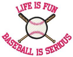 Serious Baseball Fun embroidery design