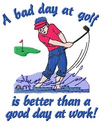 Golf Lover Belief embroidery design