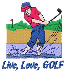 Golf Rule embroidery design