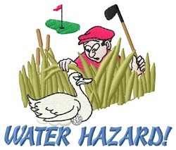 Golf And Duck embroidery design