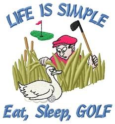 Simple Golf Life embroidery design