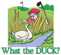 Golf Duck embroidery design