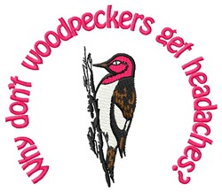 Woodpecker Strength embroidery design