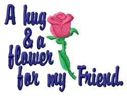 Friendship Hug & Flower embroidery design