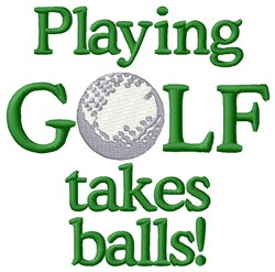 Play Golf  With Balls embroidery design