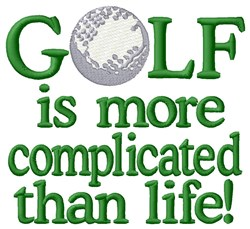 Complicated Golf Life embroidery design