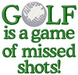 Missed Golf Shots embroidery design