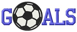 Goals Of  Soccer embroidery design