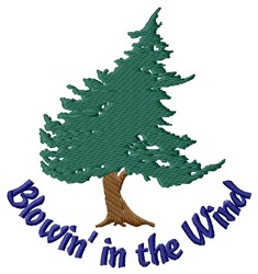 Blowing Tree embroidery design
