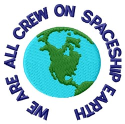 Crew Of Spaceship Earth embroidery design