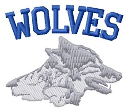 Wolves embroidery design