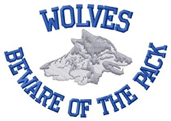 Wolves Pack embroidery design