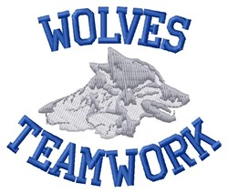 Wolves Practice Teamwok embroidery design