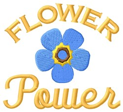 Power Of A Flower embroidery design