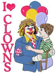 I Love Clowns embroidery design