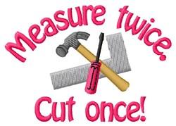 Measure & Cut Tools embroidery design