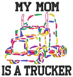 Trucker Mom embroidery design