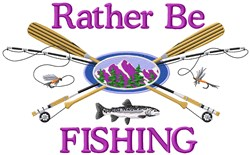 Fishing All Day Long embroidery design