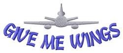 Wings Of Adventurous Flight embroidery design
