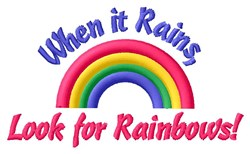 Rainbow After A Rain embroidery design