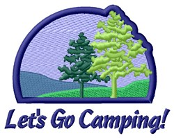 Camping and Trekking embroidery design
