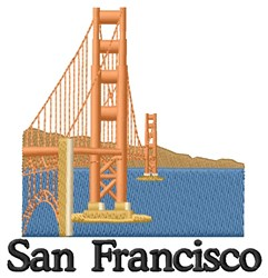 San Francisco Bay Area embroidery design