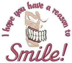 Reason To Smile embroidery design