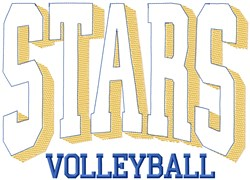 Stars Volleyball Club embroidery design