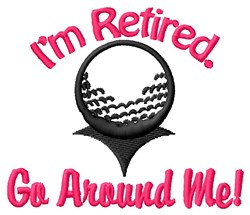 Retired Golfer embroidery design