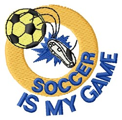 My Game Soccer embroidery design