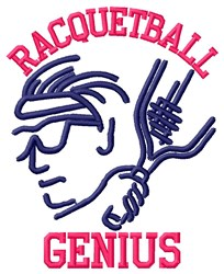 Racquetball Genius embroidery design