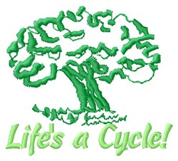 Life Cycle Of Trees embroidery design