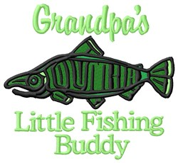Grandpas Little Fishing Buddy embroidery design