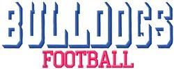 Bulldogs Football embroidery design