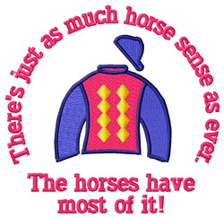Horse Sense embroidery design
