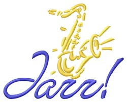 Saxy Jazz embroidery design