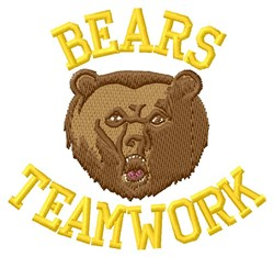 Bears Teamwork embroidery design